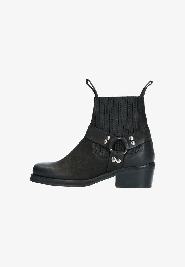 MIT SCHNALLEN - Cowboy/biker ankle boot - schwarz