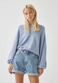 PULL&BEAR - Long sleeved top - mottled blue - 0