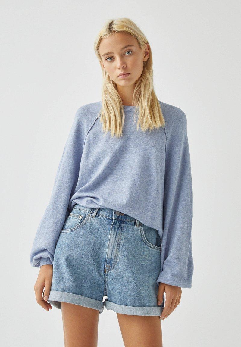 PULL&BEAR - Long sleeved top - mottled blue