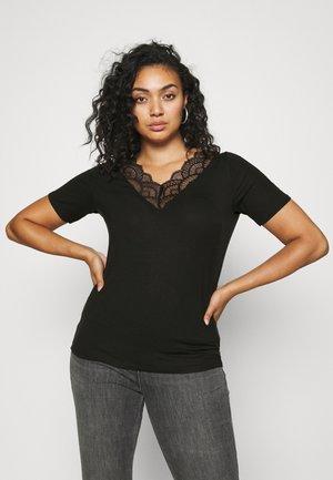 VMAVA V-NECK - T-shirt imprimé - black