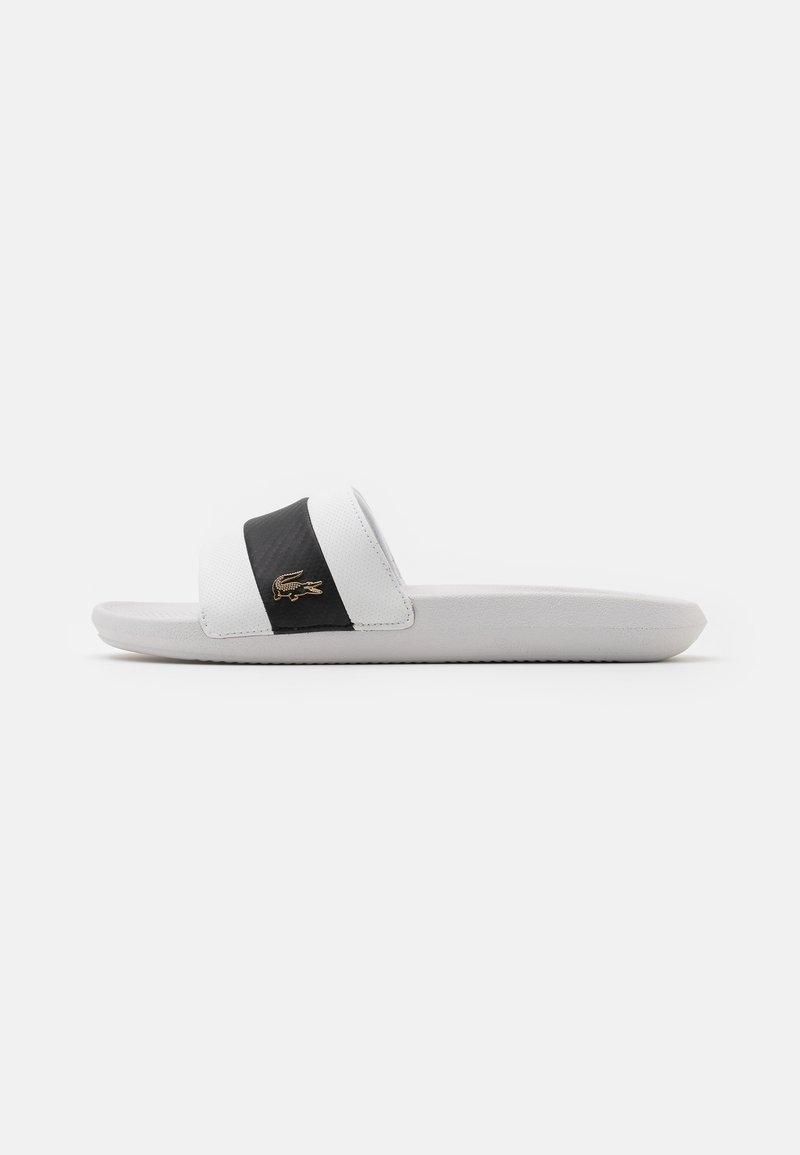 Lacoste - CROCO SLIDE - Slip-ins - white/black