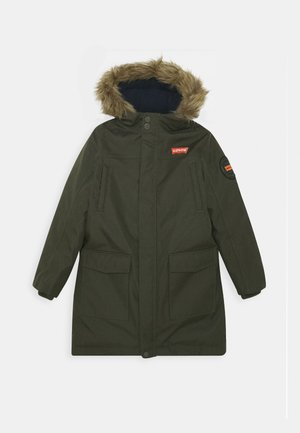 LONG UNISEX - Winter coat - olive night