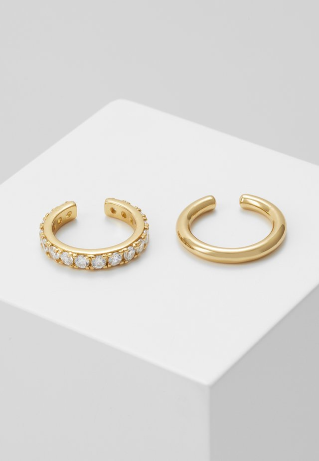 LUXE EAR CUFF 2 PACK - Earrings - pale gold-coloured