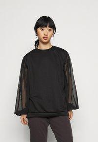 Missguided Petite - TULLE SLEEVE  - Sweatshirt - black - 0
