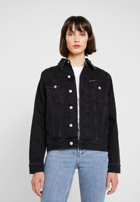 Calvin Klein Jeans - FOUNDATION TRUCKER - Denim jacket - washed black - 0
