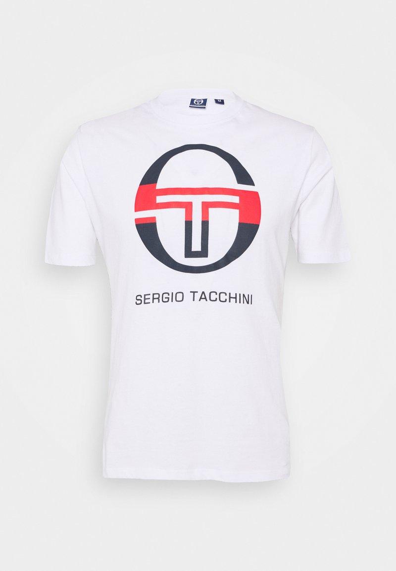 sergio tacchini - IBERIS - Print T-shirt - white/navy/red
