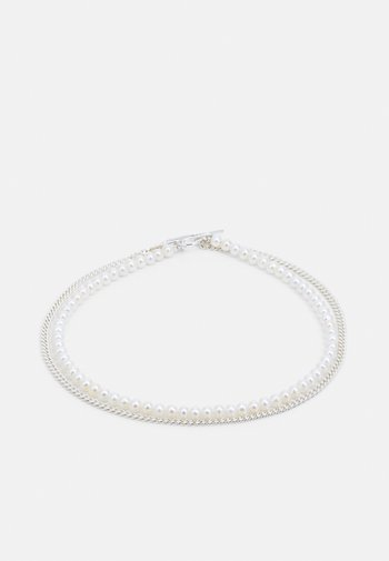 IRIS DOUBLE CHAIN NECKLACE - Necklace - silver