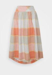 Thought - ALEXA FULL CHECK SKIRT - A-line skirt - clementine orange - 0