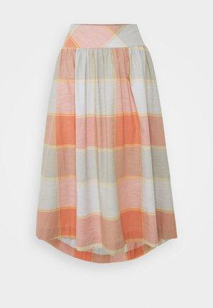 ALEXA FULL CHECK SKIRT - A-line skirt - clementine orange