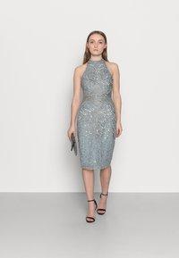SISTA GLAM PETITE - GLOSSIE  - Koktejlové šaty/ šaty na párty - grey/blue - 1