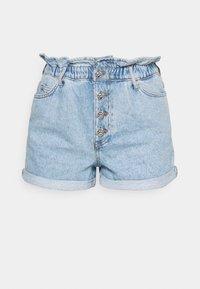 ONLCUBA LIFE PAPERBAG - Shorts di jeans - light blue denim