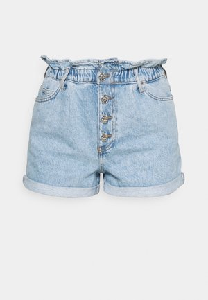 ONLCUBA LIFE PAPERBAG - Denim shorts - light blue denim