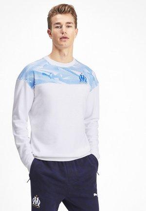 Sweatshirt - puma white-bleu azur
