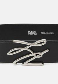 KARL LAGERFELD - AUTOGRAPH BELT LARGE - Belt - black - 2