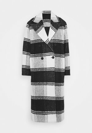 LOTTIE CHECK COAT - Classic coat - black/white