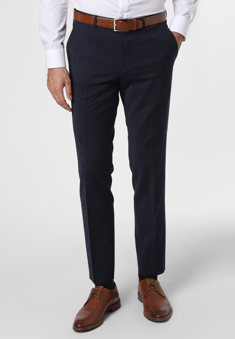 HUGO - HESTEN - Suit trousers - marine