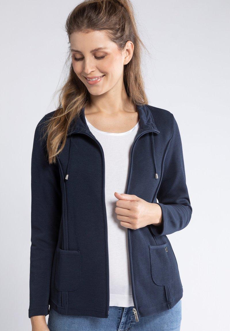 GINA LAURA - Zip-up hoodie - dunkel marine