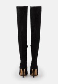 ALDO - IDEEZA - Overknee laarzen - open black - 2