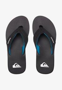 Quiksilver - T-bar sandals - black/black/blue - 1