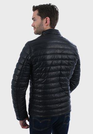 JULIEN - Kožená bunda - black