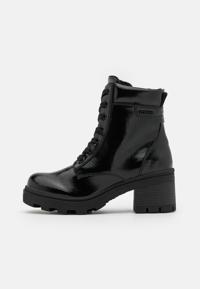 Botines con plataforma - black