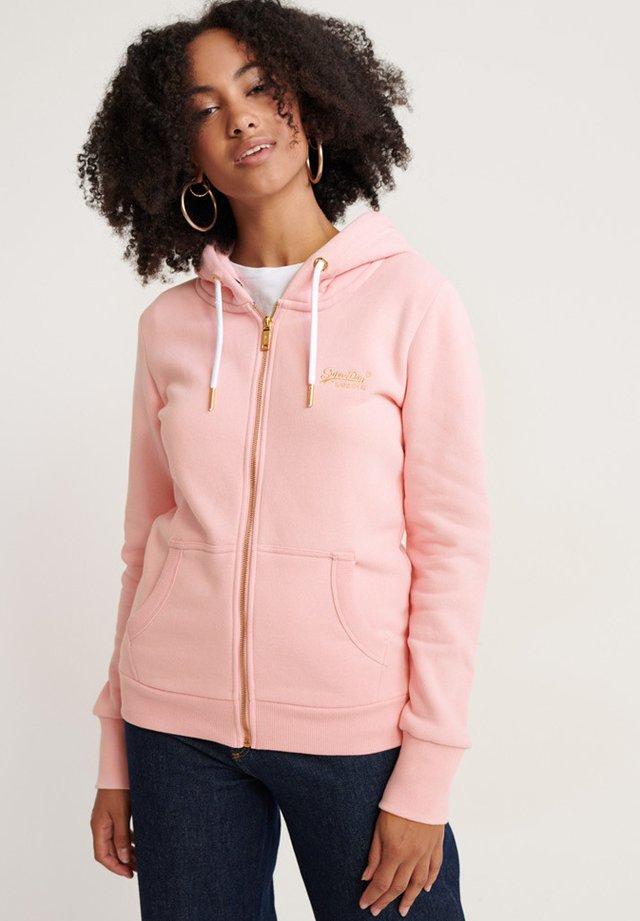 ORANGE LABEL  - Zip-up hoodie - fade pink