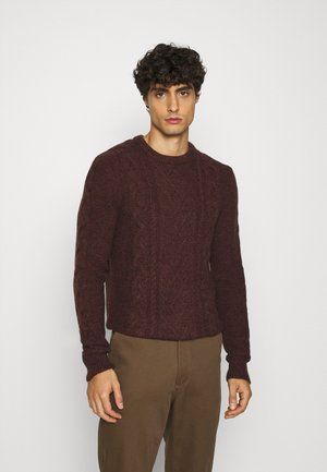 Pullover - mottled dark brown