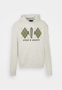 Lyle & Scott - APPLIQUE HOODIE RELAXED FIT - Mikina skapucí - vanilla ice marl - 5