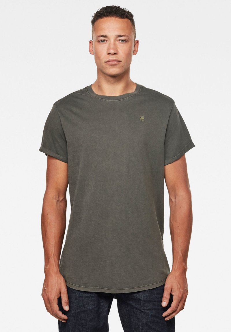 G-Star - LASH ROUND SHORT SLEEVE - Basic T-shirt - asfalt gd