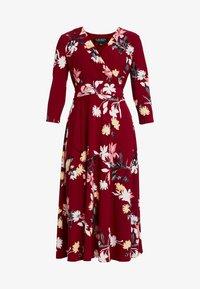 Lauren Ralph Lauren Petite - CARLYNA 3/4 SLEEVE DAY DRESS - Jerseyklänning - vibrant garnet/pink/multi - 5