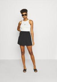 Even&Odd - BASIC - Mesh mini skirt - A-line skirt - black - 1
