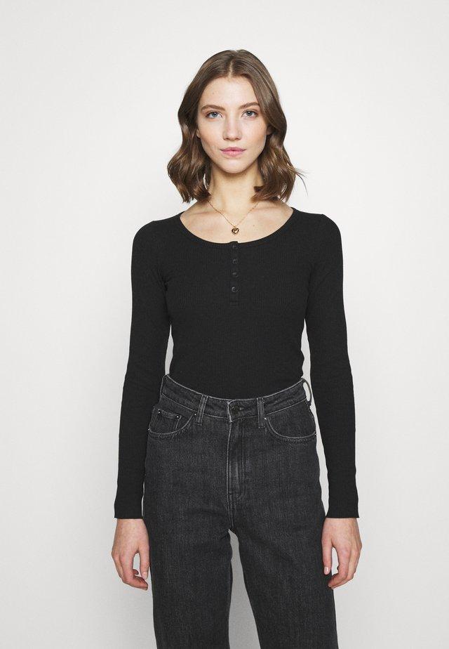 TONI LONG SLEEVE - Maglietta a manica lunga - black
