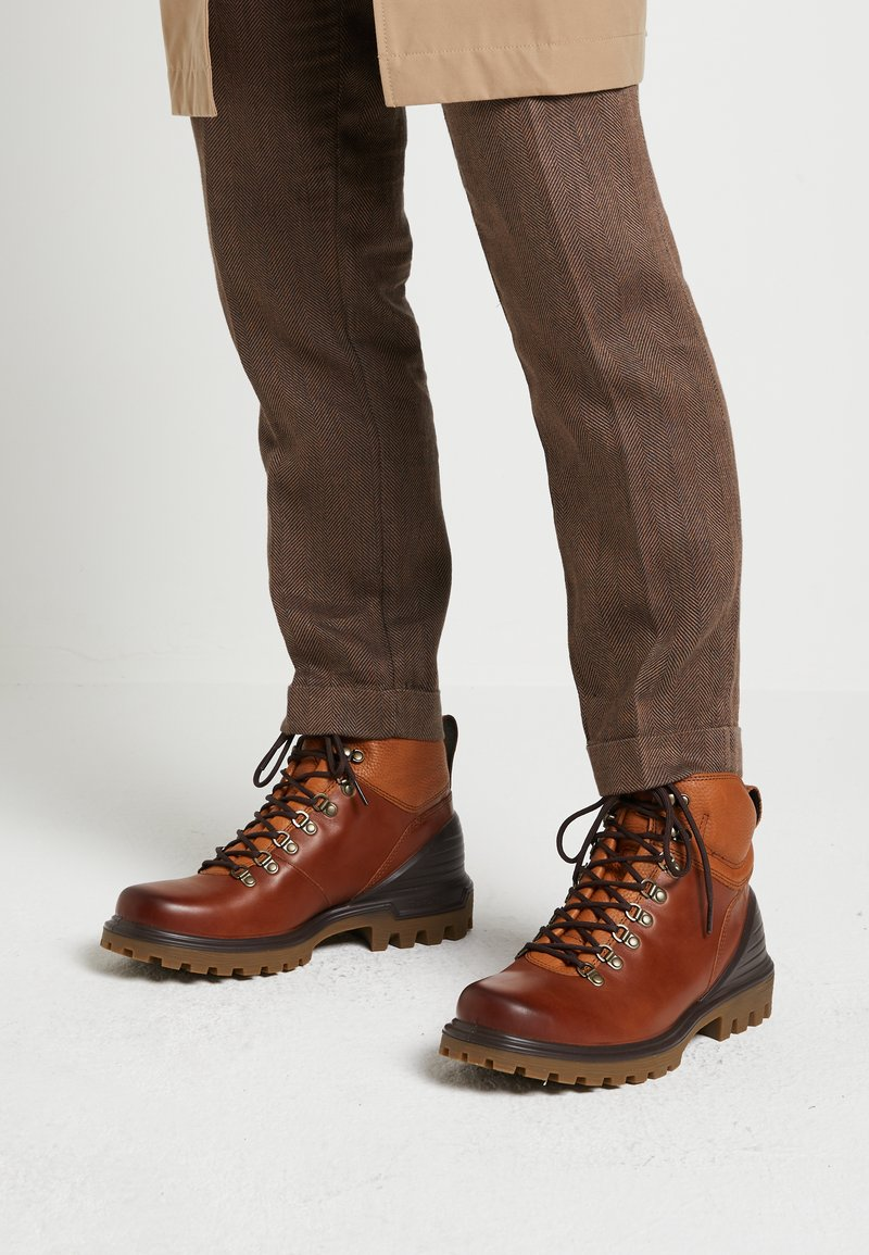 ECCO - TREDTRAY - Lace-up ankle boots - amber