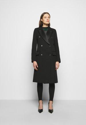 DOUBLE BREASTED TUXEDO COAT - Klasický kabát - black