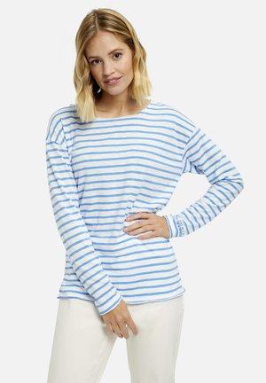 LANGARM GESTREIFT - Long sleeved top - cornflower blue