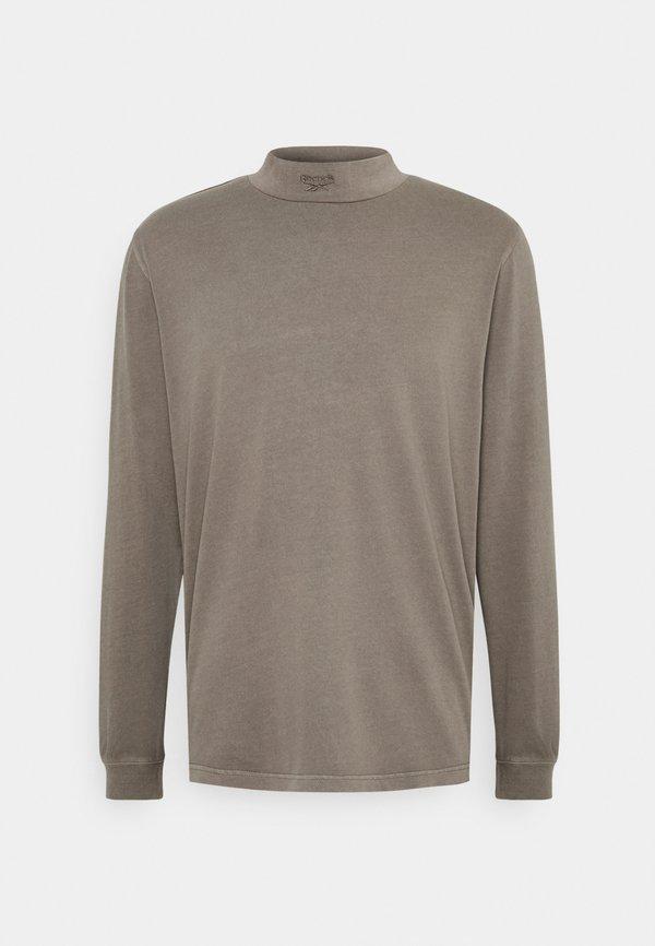 Reebok Classic MOCK TEE - Bluzka z długim rękawem - trek grey/szary Odzież Męska MYUK