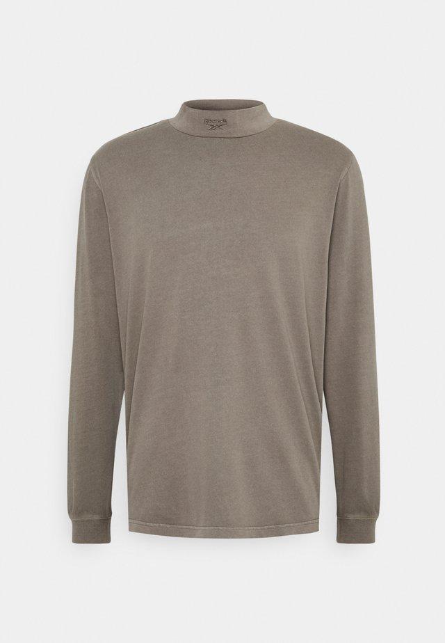 MOCK TEE - Long sleeved top - trek grey