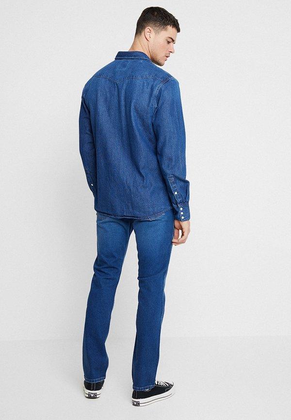 Wrangler 11MWZ - Jeansy Straight Leg - stone blue denim/szaroniebieski Odzież Męska JAGX