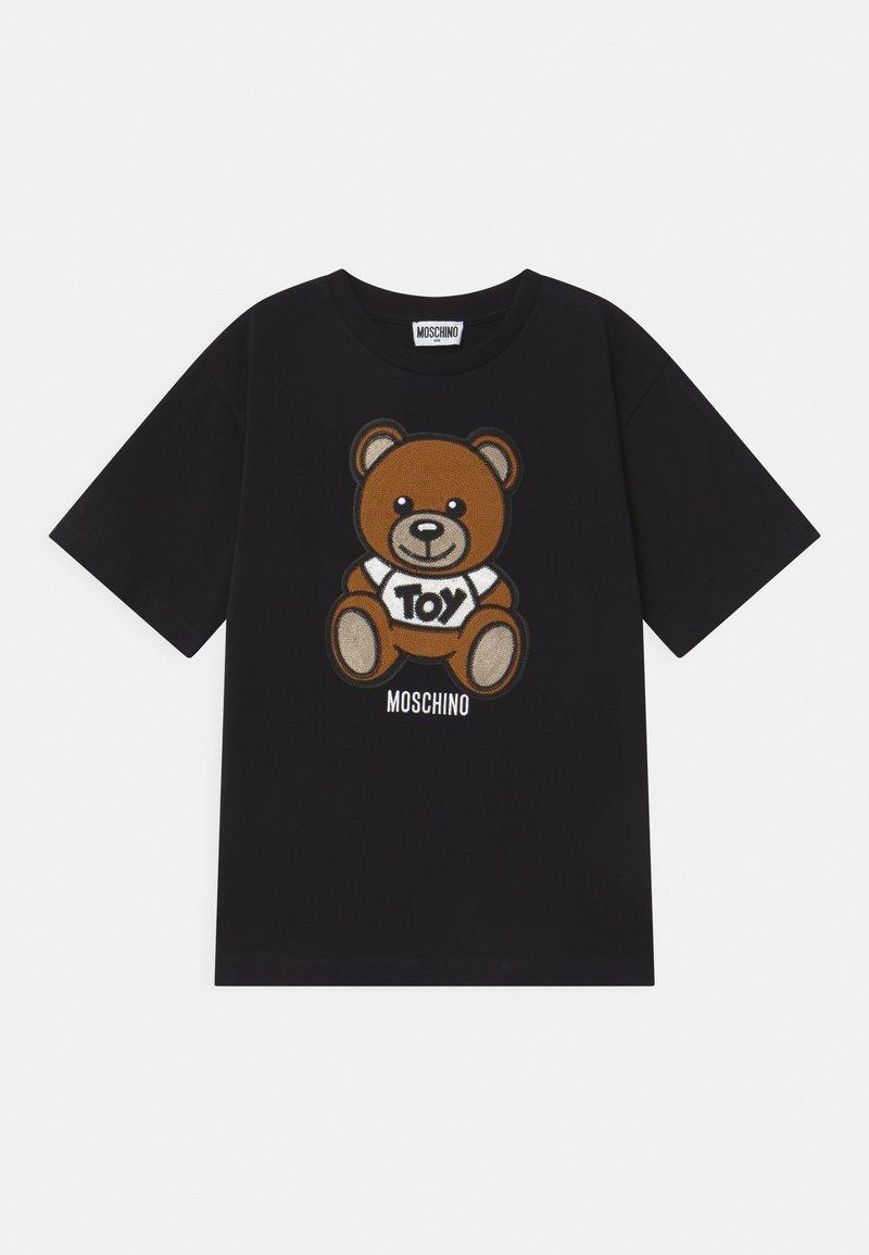 MOSCHINO - MAXI UNISEX - Print T-shirt - black