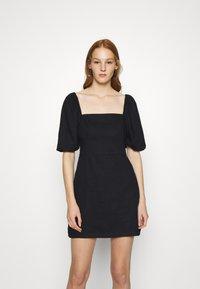 Abercrombie & Fitch - SMOCKED MINI - Day dress - black - 0