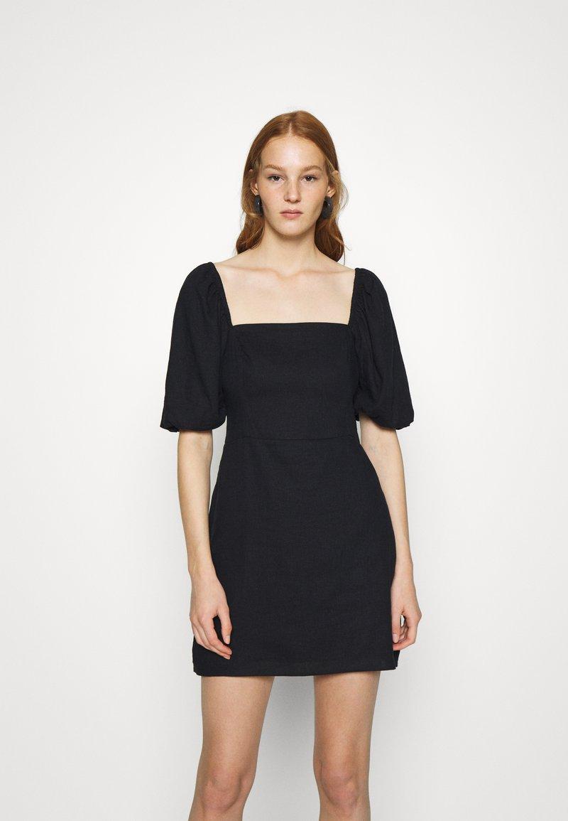 Abercrombie & Fitch - SMOCKED MINI - Day dress - black