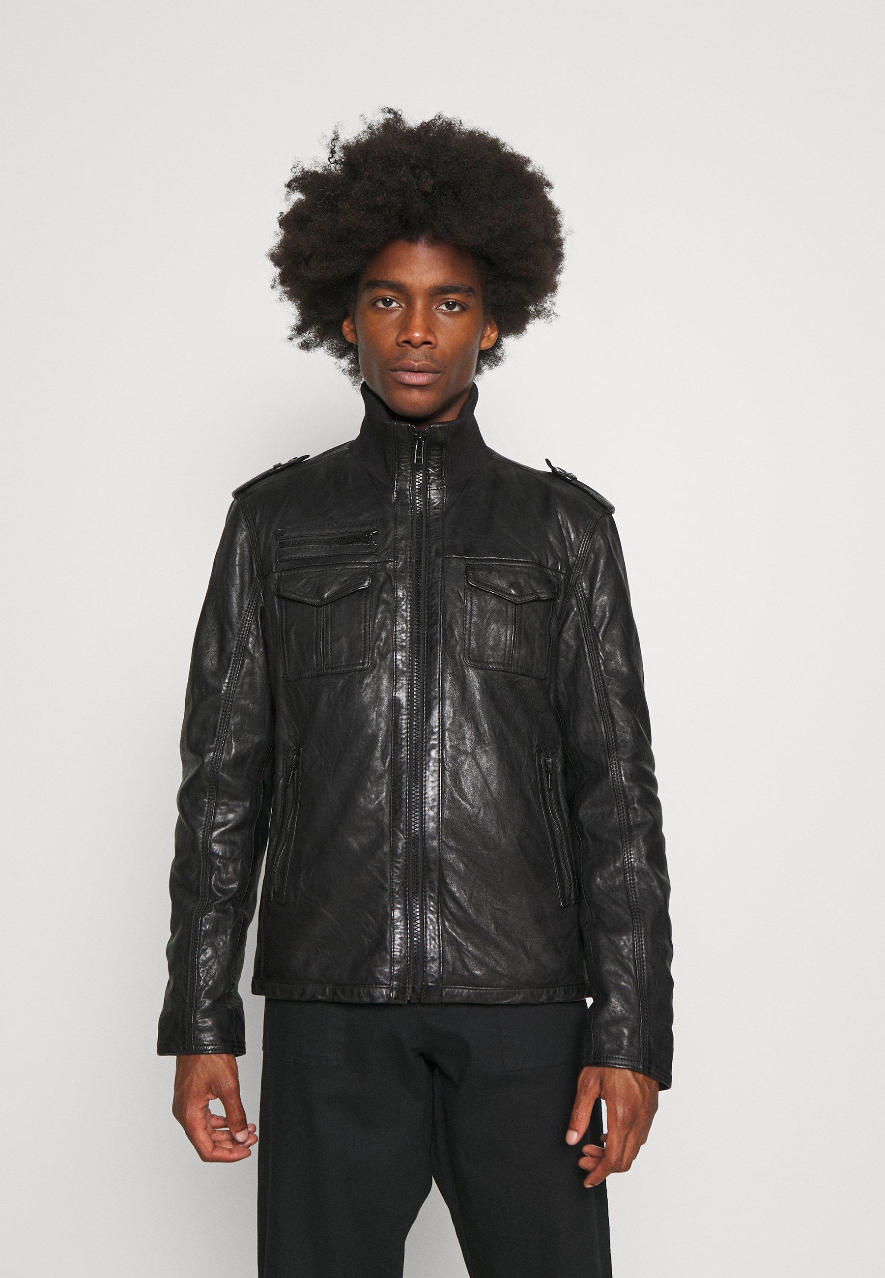 Men IVANO - Leather jacket
