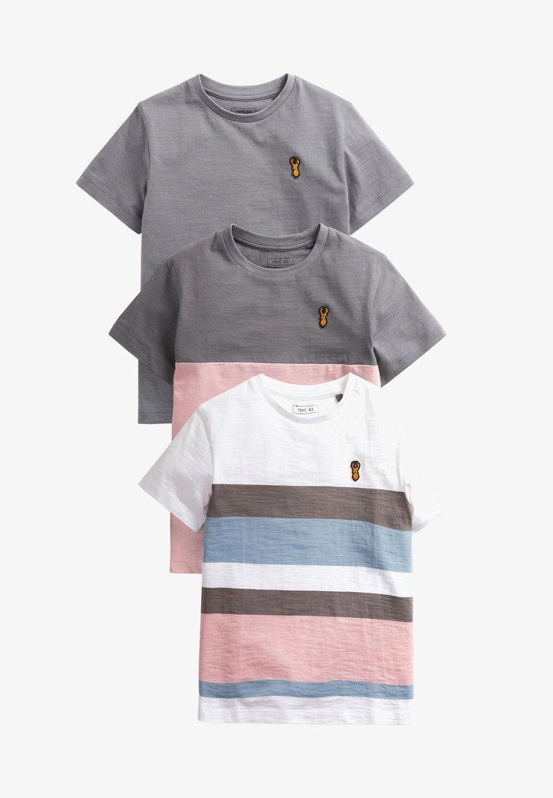 Next - 3 PACK - Print T-shirt - multi-coloured
