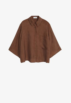 SISKO - Button-down blouse - schokolade