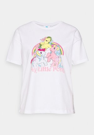 ONLMY LITTLE PONY LIFE - T-shirt print - bright white