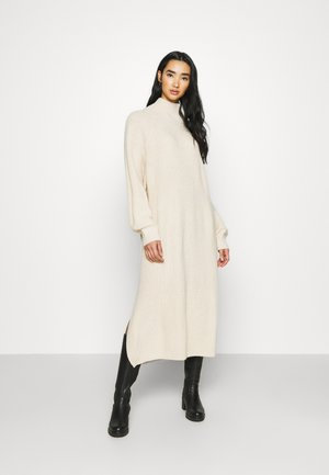 KEAN DRESS - Strikket kjole - beige dusty light