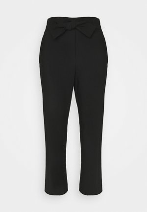 HIGH WAISTED PANT WITH BELT - Stoffhose - black