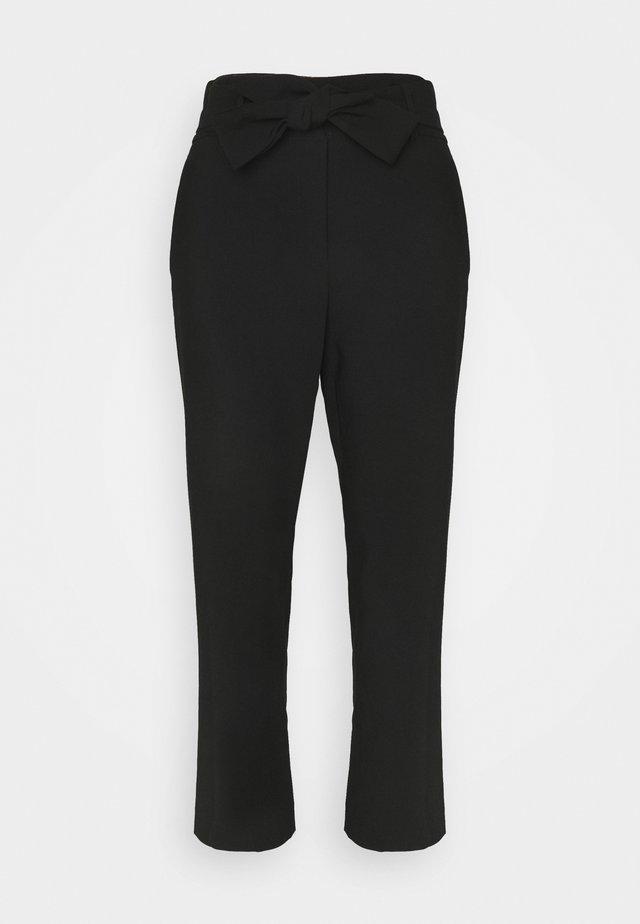 HIGH WAISTED PANT WITH BELT - Kangashousut - black