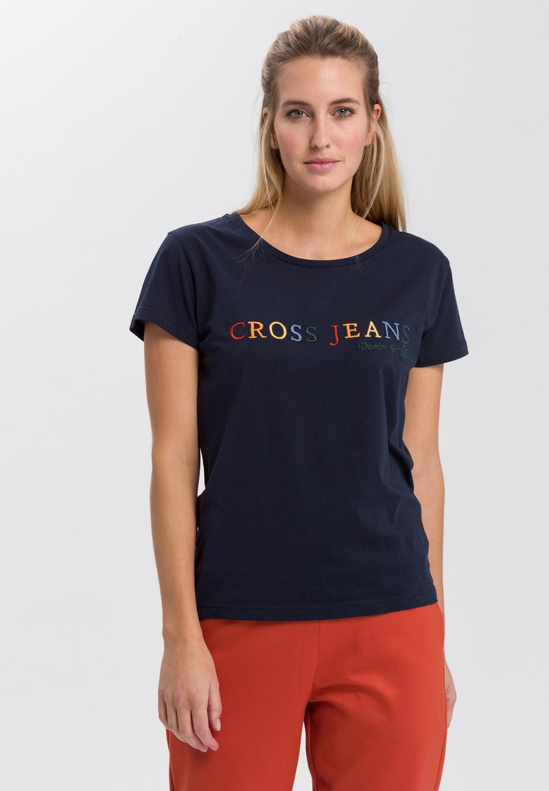Cross Jeans - MIT ARM - Print T-shirt - navy
