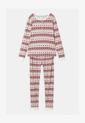 FAIR ISLE UNISEX - Pyjama set - dark pink